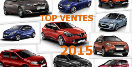 top ventes voitures 2015