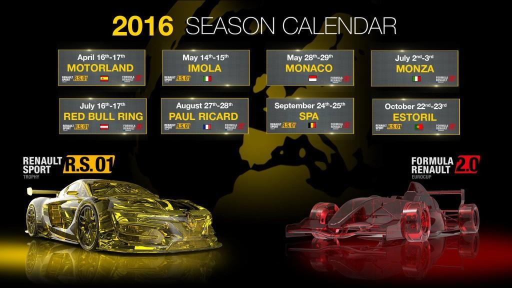 Calendrier EUROCUP FORMULA RENAULT 2.0 avec RenaultSport