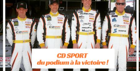 CD SPORT - du podium à la victoire !