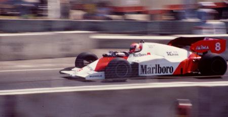 Niki Lauda au volant de la McLaren MP4/2 au Grand Prix des USA