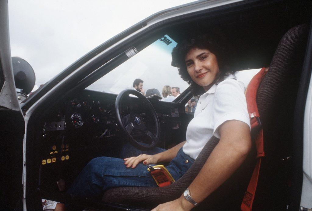 Michèle Mouton quand elle était une jeune pilote de course